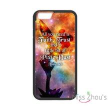 For iphone 4/4s 5/5s 5c SE 6/6s plus ipod touch 4/5/6 back skins mobile cellphone cases cover Tinkerbell Quotes
