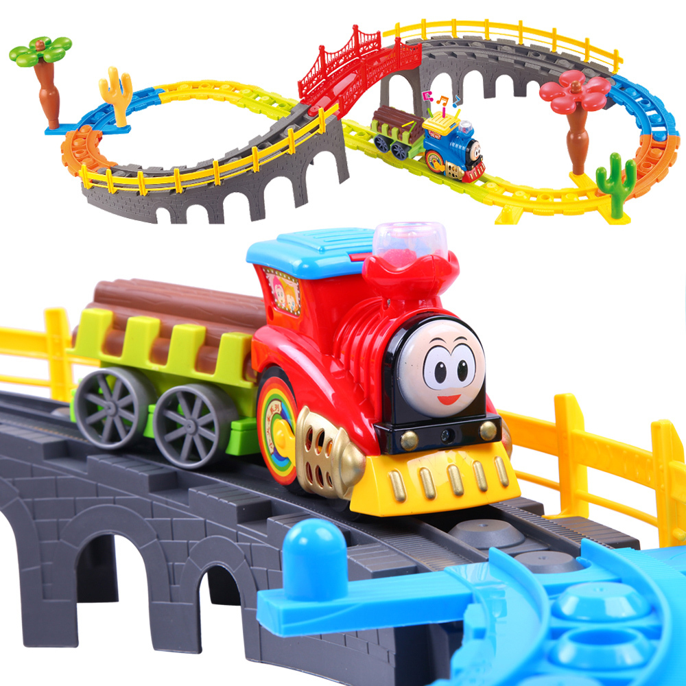 Train Toys For Boys : Kids toy electric train set boy s model toys children