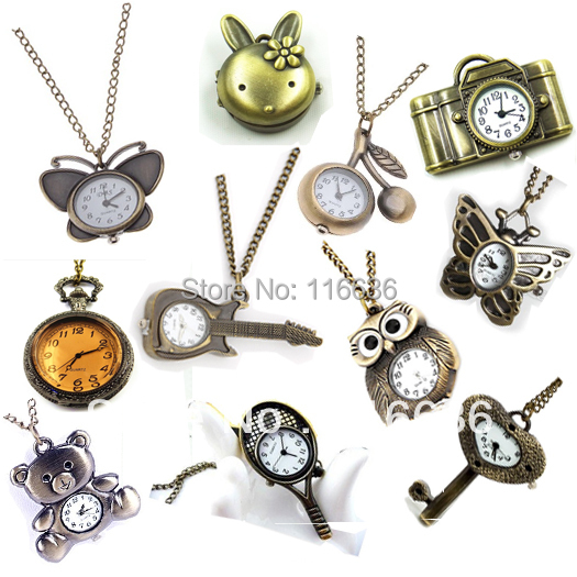 10pcs/LOT POCKET WATCH choose your favorites  NEW 2013 FANCY and FUNNY STEAMPUNK BRAND NEW dress watch WELLCOME WHOLESALE<br><br>Aliexpress
