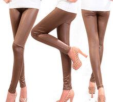 Free Shipping Fashion Ldies Black Khaki Brown Skinny Modal Leggings M-XXL Girls Fit Slim Elastic Pants Women Capris Trousers