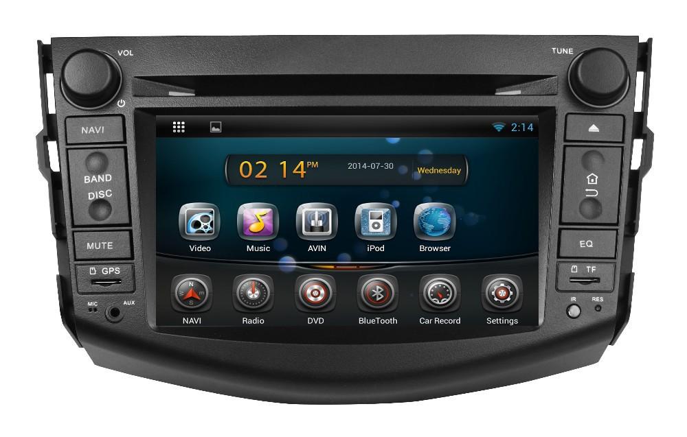 For Toyota RAV4 Car DVD Player 2 Din 7 GPS Navi Com SWC + Radio + RDS + Bluetooth + dvd/cd + mp3/mp4 + GPS + iPod+mapa livre(China (Mainland))