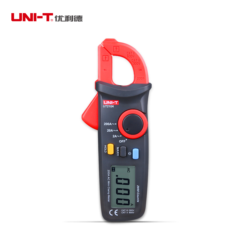 UNI-T UT210A Clamp Multimeter AC 2A/20A/200A Auto Range Current Tester Input Protection LCD Backligt Portable For Elec Measure<br><br>Aliexpress