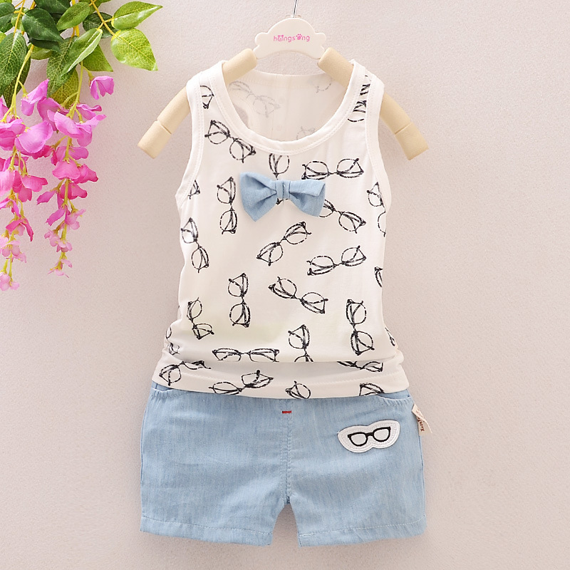 Summer style Baby Boy Cloth Set Children Boy Jeans Suit 100% Cotton Kids Clothing Set Vest+Pant Fantasias Infantis Retail(China (Mainland))