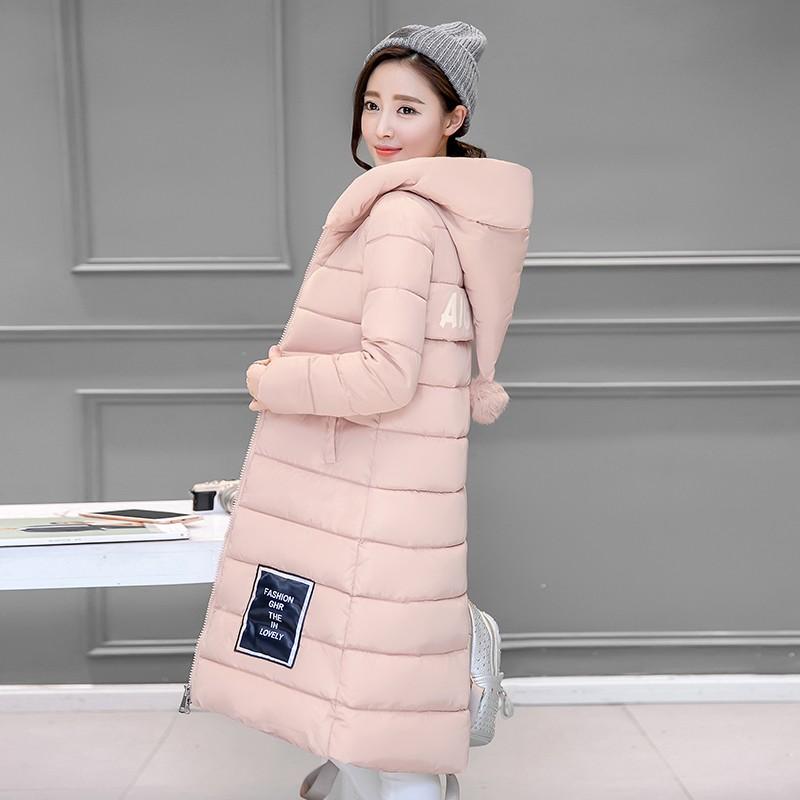 Winter Women Jacket 2016 New fashion Blus Size Hooded Jacket Slim Show thin Long Cotton Clothes Warm Joker jacket trend WY020