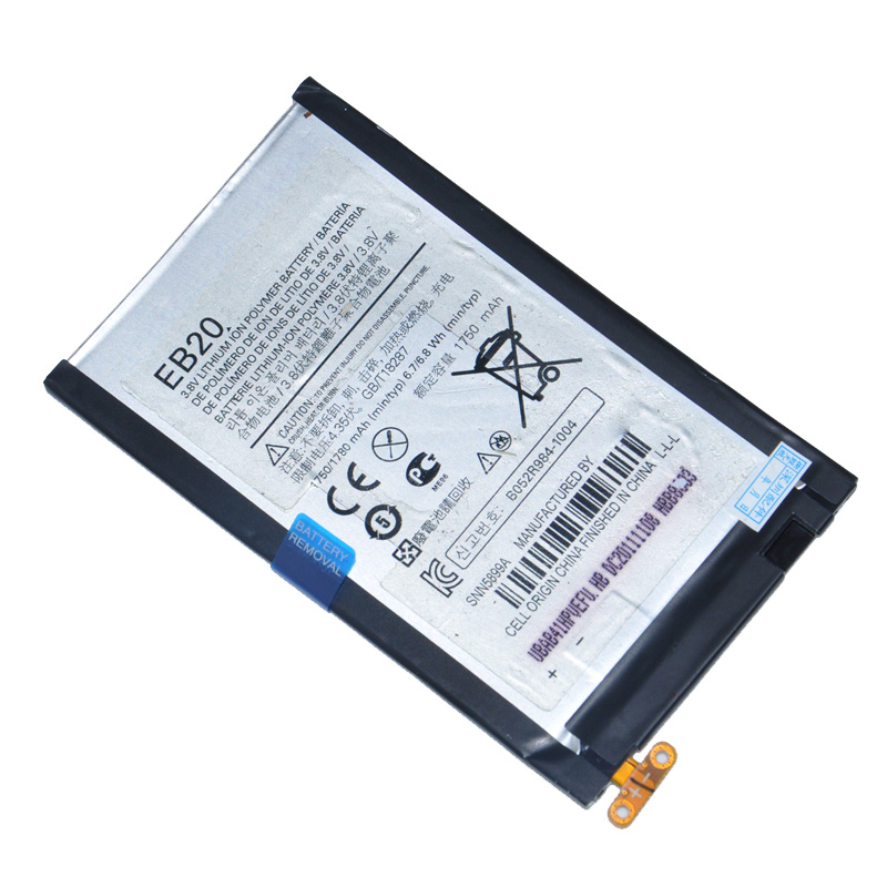 100% Original EB20 1750mah High Quality Replacement cell phone Battery For Motorola DROID RAZR XT910 XT912 Phone Accessories(China (Mainland))