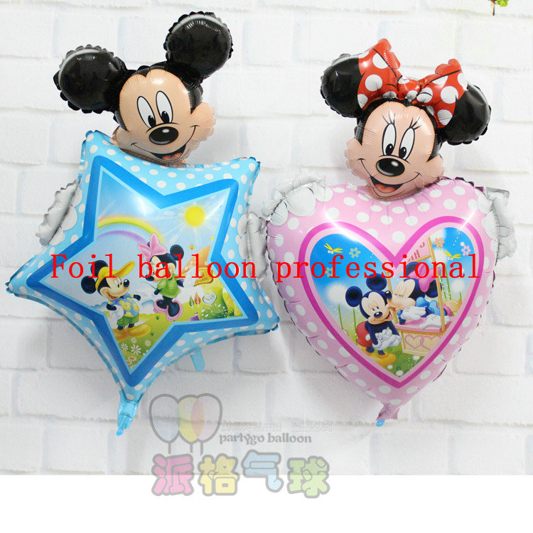 50pcs/lot 90*55cm Mickey Minnie Shape Balloon inflable Animal Balloon For Birthday Party Celebration Decoration festa wholesale<br><br>Aliexpress