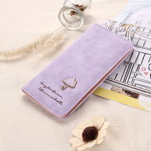 New Arrival Discount Sweet Umbrella Ladies Wallet Long Purse 12 Cards Holder Protector Wholesale Promotion MTY3(China (Mainland))
