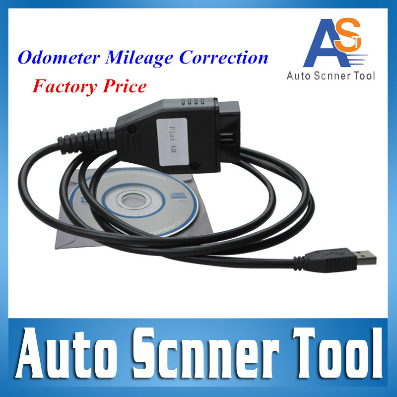 2016 Top Selling FIAT KM Tool Odometer Mileage Correction Programmer FIAT KM TOOL via OBD2 Scanner Interface Free Shipping(China (Mainland))