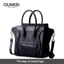 Oumisi  Hot! 2016 Luxury Brand  Designer Classic Nano Solid Color Smiley Cross Body Tote Women Bag, Smile Face Purse lady bag CS