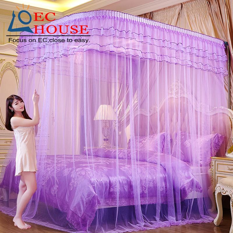 Bold fishing rod telescopic mosquito net three door 1.5 meters 1.8m1.2 stainless steel stent princess bed double U FREE SHIPPING(China (Mainland))