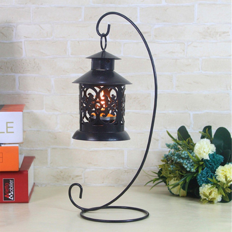 Fashion Creative Iron Candlestick Glass Ball Hanging Holder Candle Stand Light Holder free shipping(China (Mainland))