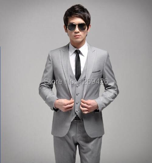 Beautiful Mens Grey Wedding Suits Gallery - Styles & Ideas 2018 ...