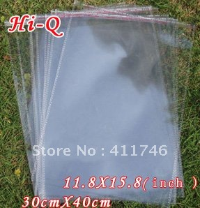 100pcs 30 x 40 cm Clear Self Adhesive Seal Big Plastic OPP Bags(China (Mainland))
