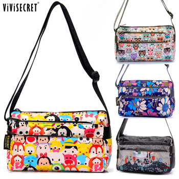 Women Messenger Bags Lady Causal Small Cross body Floral Cartoon Tsum bag  Hobo Mujer bag for Girl  Bolsa feminina
