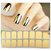 M8601 2015 New hot Fashion Smooth Gold Foil Armour Nail Sticker Art Decoration Sticker Patch Wraps professional