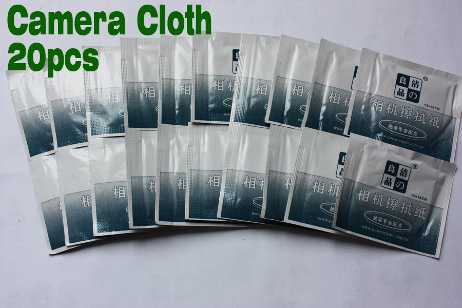 20pcs/set Camera Cloths Screen Dust Removal Cleaning Wipes Paper Set with Sole professional formula Free Shipping(China (Mainland))