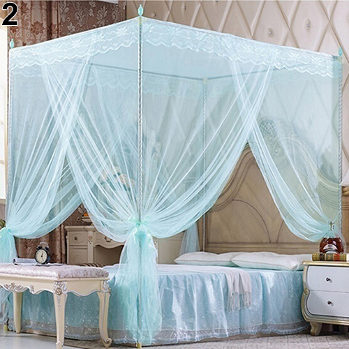 romantic princess lace canopy mosquito net no frame for twin full queen king bedchina