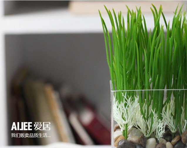 Free shipping 20pcs/lots Rustic flowers and plants artificial grass home decoration shoots(China (Mainland))