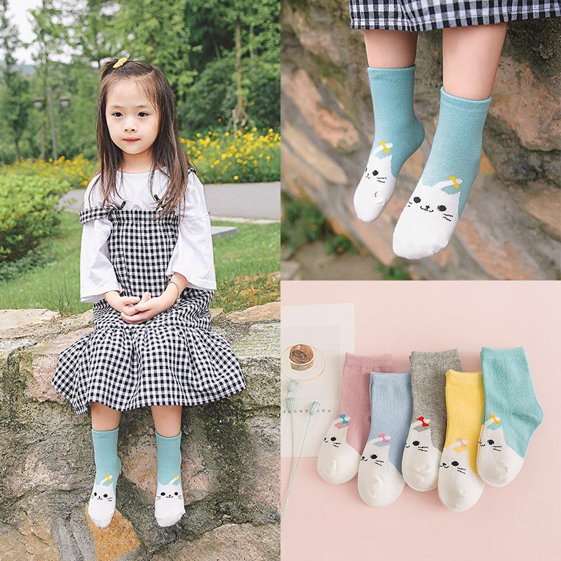 Baby Socks Korea new cute Girls cartoon bowknot cat socks 10 pair/lot C823(China (Mainland))