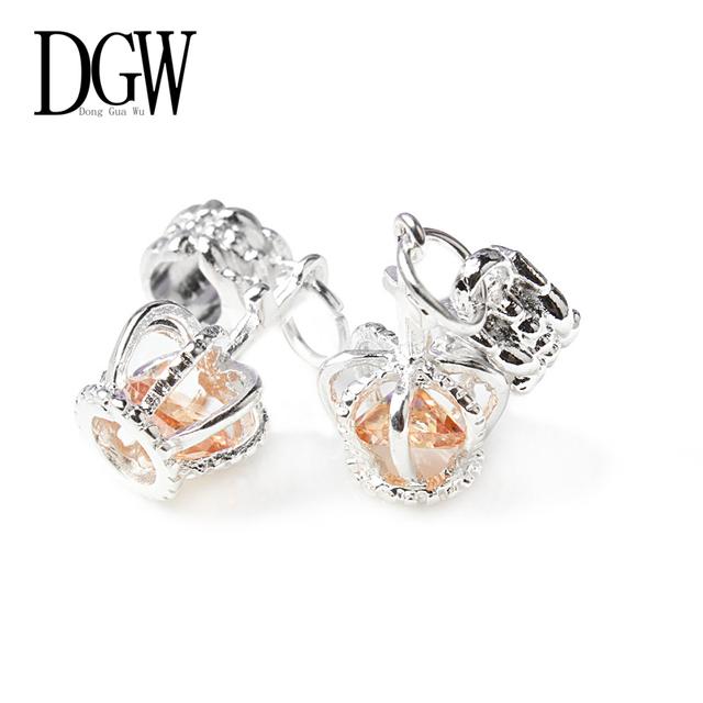 Dgw 8 цветов 1 шт. серебряный бусины европейский серебряный с шарм кристалл бусины ...