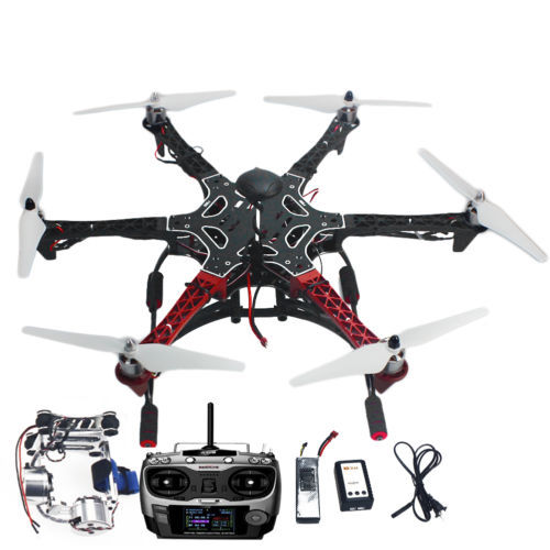 Assembled F550 6-Aix RTF Full Kit with APM 2.8 Flight Controller GPS Compass &amp; Gimbal F05114-AS <br><br>Aliexpress