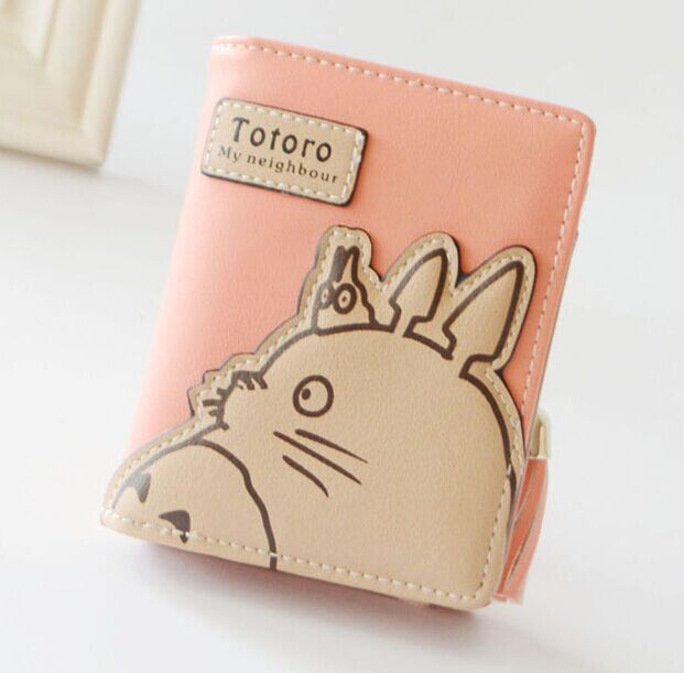 cute sweet short long totoro and others women girl femme marque wallet porte monnaie zip hasp clutch two fold purse bolsa muje(China (Mainland))