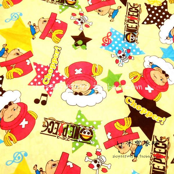 105*100cm ONE PIECE Tony Tony Choppe cute baby Polyester silk fabric Sewing Fabric DIY Handmade Material Patchwork Bag(China (Mainland))