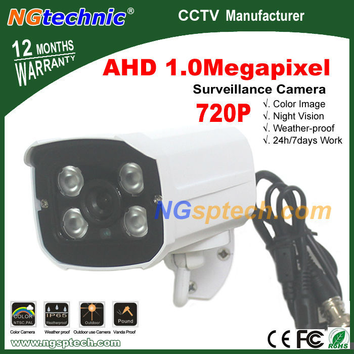 NEW AHD CCTV Camera 720P HD 1.0MP IRCUT Filter Night Vision Outdoor Analog High Definition 1/4'' CMOS Security Camera Waterproof(China (Mainland))