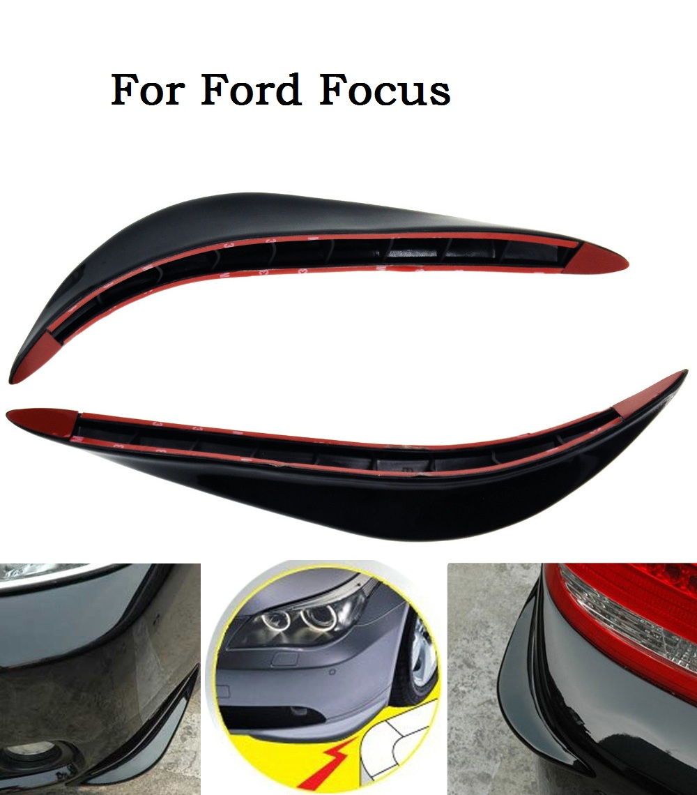 Universal Front or Back Bumper Guard Cover Stickers Protector 3D Black/white/silver Streamline For Ford Focus(China (Mainland))