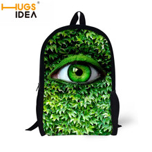 Stylish eyes of earth tree backpacks for teenager boys red lip flag tongue rucksack for girls book bag child back-to-school gift(China (Mainland))