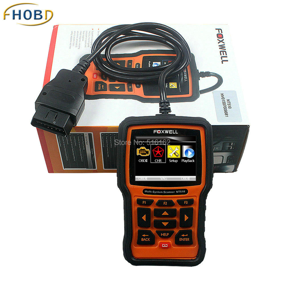 Original Foxwell NT510 Fit For Chrysler Support to 2015 Year Vehicles OBD2 All System Engine  ABS Airbag Diagnostic Tool<br><br>Aliexpress