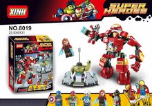 XH Super Heroes Avengers Building Blocks Ultron Minifigures Iron Man Hulk Buster Bricks Action Mini Figures Compatible With Lego(China (Mainland))