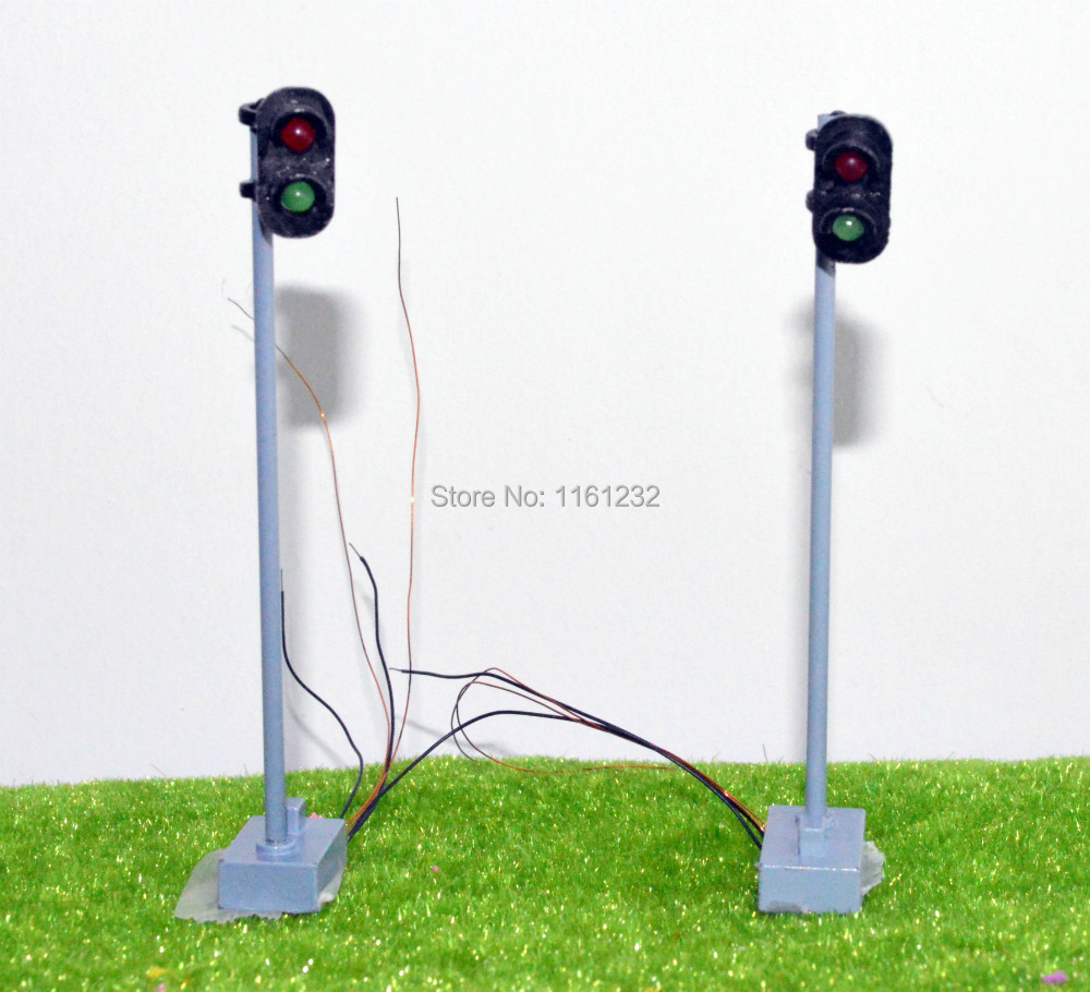 New design layout 7.5cm 1:100-1:150 scale signal lamp,traffic light traffic signal, traffic sign(China (Mainland))