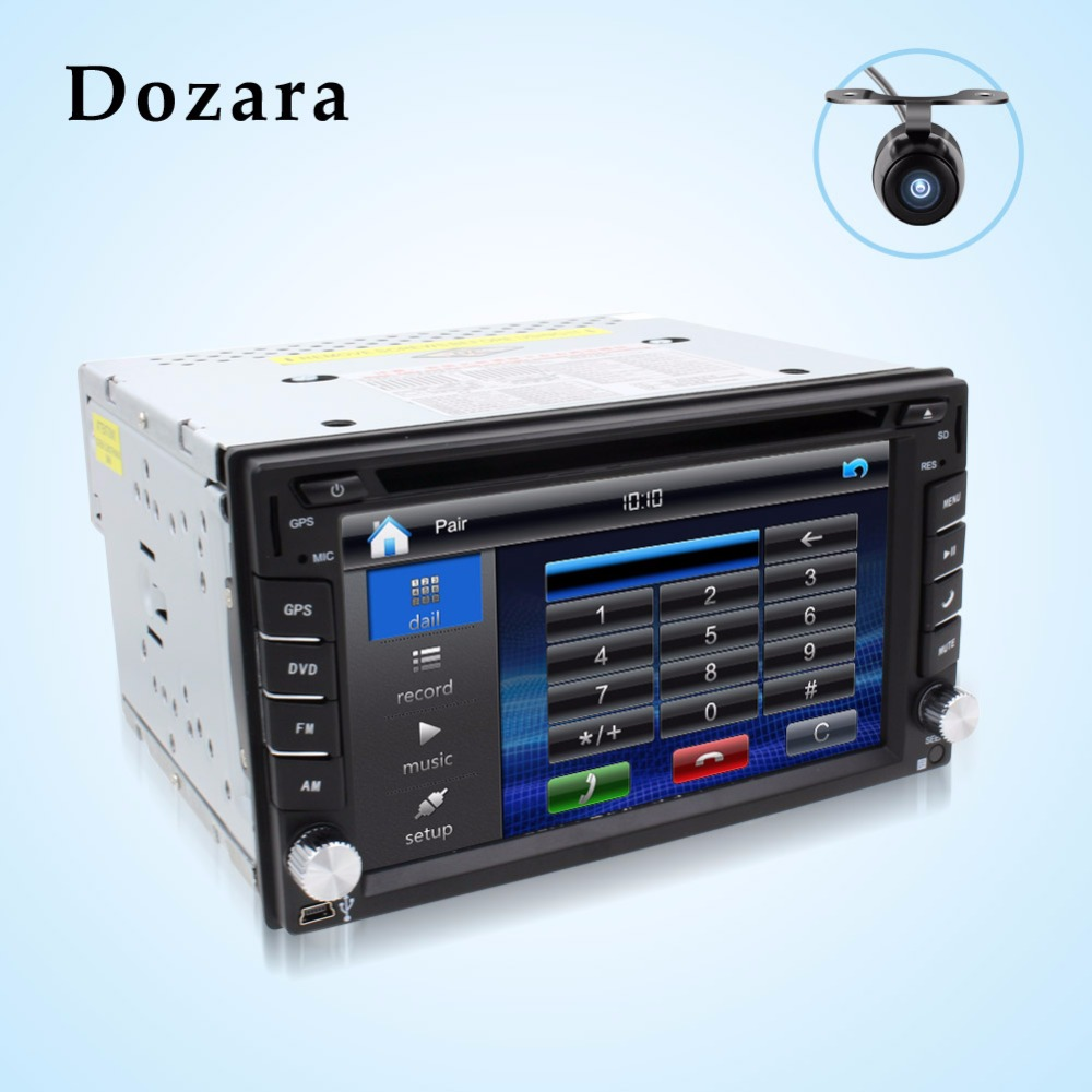 tape recorder 2din car dvd GPS/Radio tuner/MP3/USB/SD/Bluetooth/Stereo/Video Free Map and Camera(China (Mainland))