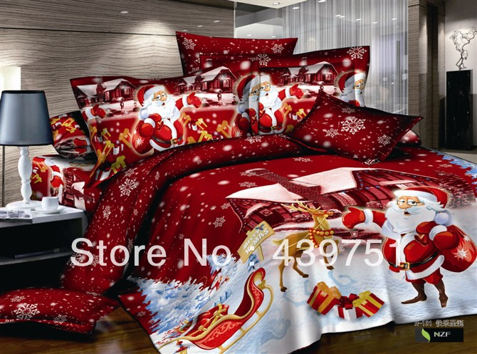 Buy hot sale kids christmas bedding set for Home decor items on sale