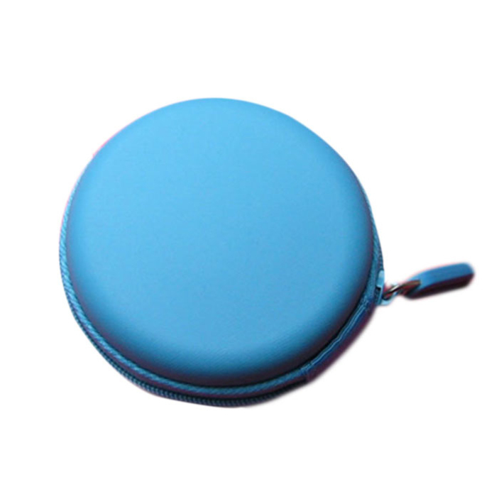 Splendid Colourful Portable Mini Round Hard Storage Case Bag for Earphone Headphone SD TF Cards