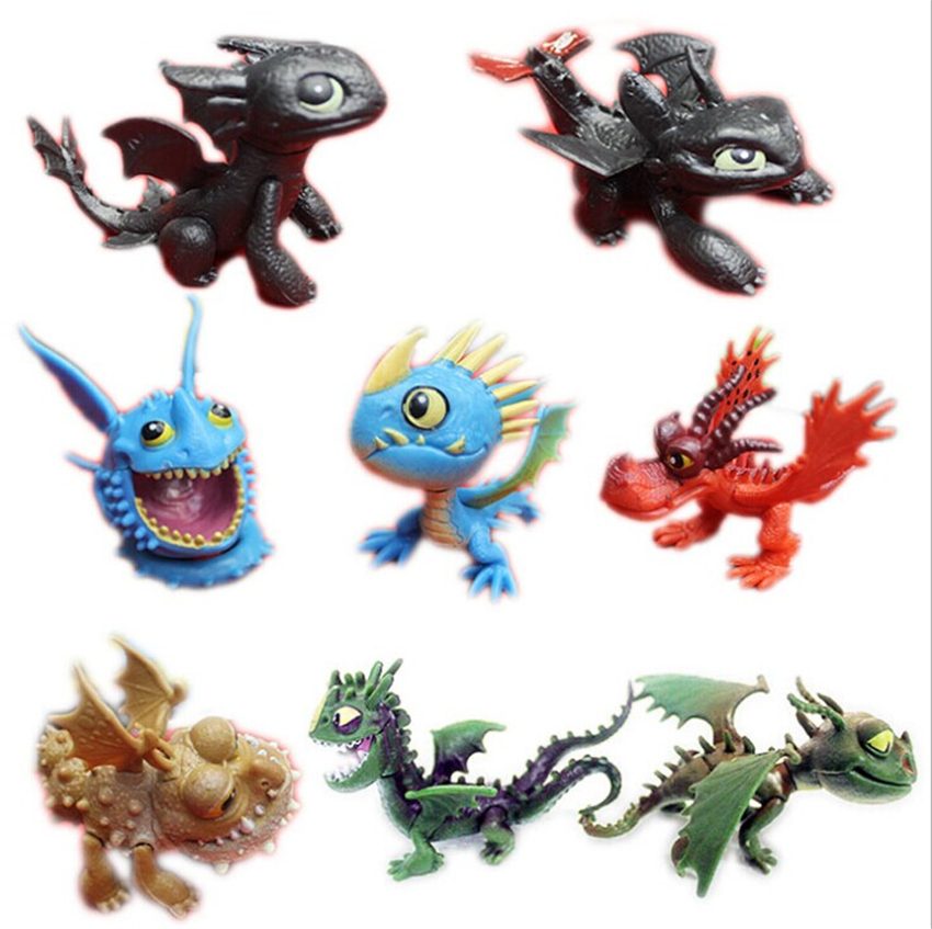 8PCS Cartoon Mocie How to Train Your Dragon Kids Plastic Bulk toy dolls kid gift(China (Mainland))