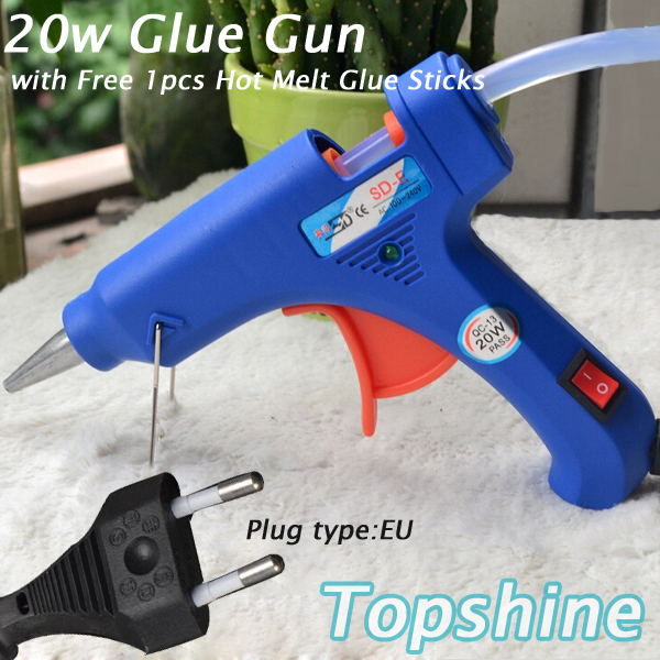 20W Hot Glue Gun Professional High Temp Heater Repair Heat Tool With Free 1pcs Hot Melt