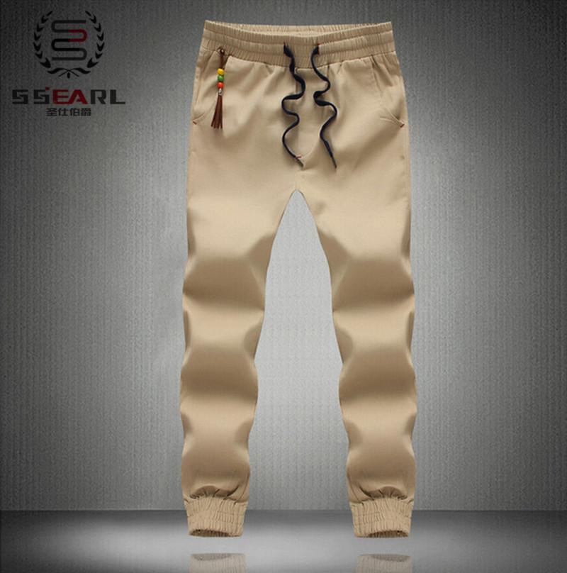 2015New Fashion Plus Size Men Pants Fit Cotton jogger pants summer style Sweatpants Men's Trousers Sport Pants M~5XL khaki cargo(China (Mainland))