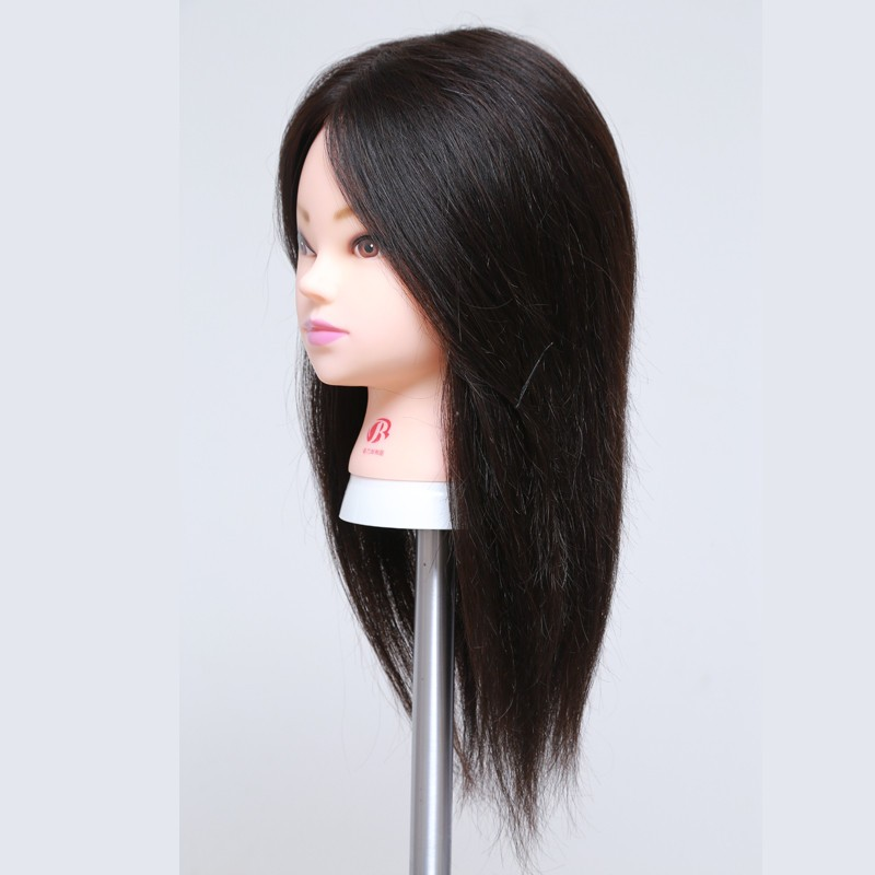 100% Real Lowest Price Best Quality Hair Training Head 18″ Human Hair doll head Styling Cosmetology Hairdressing Mannequin Head