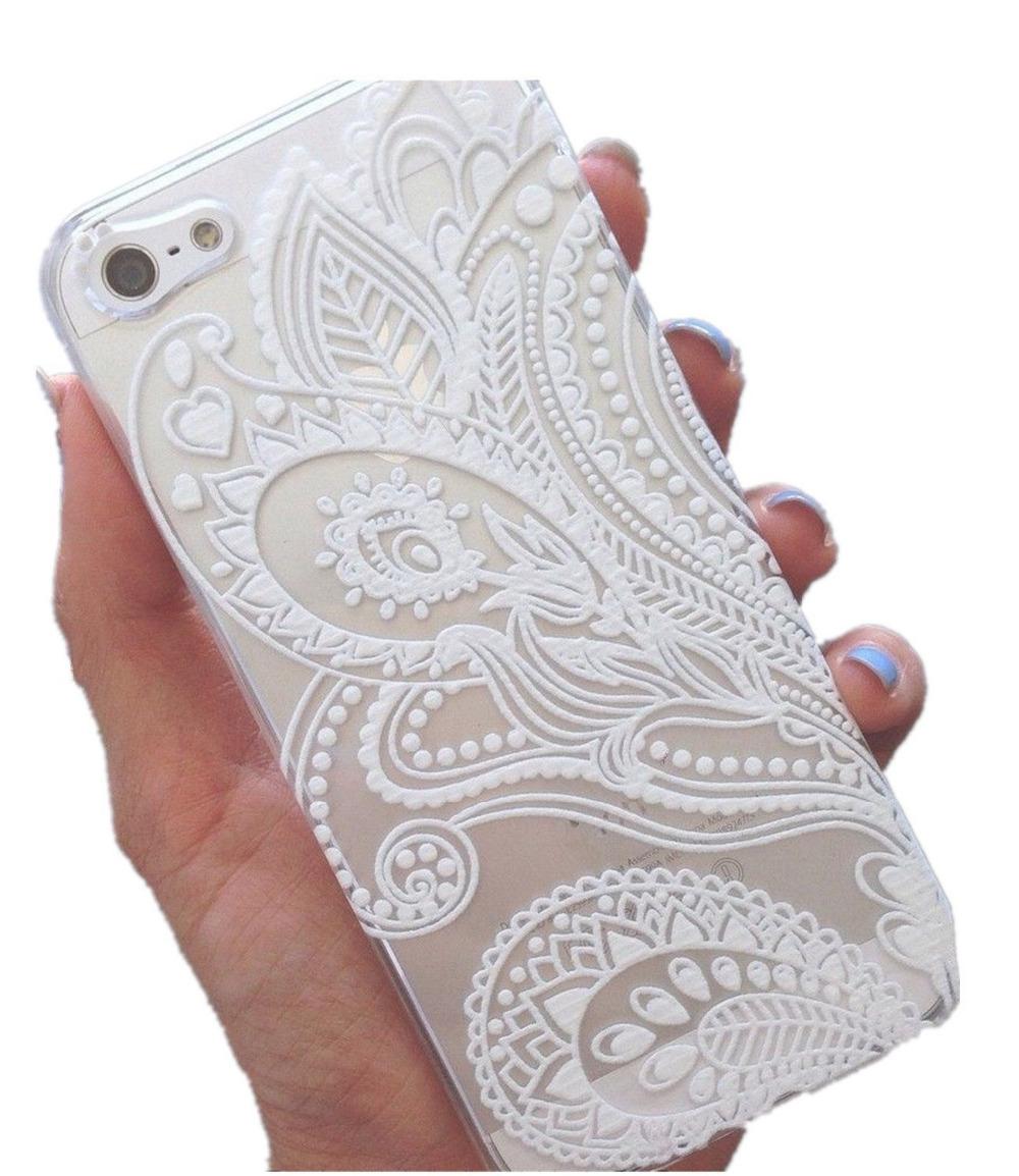 Online kopen wholesale fashion floral henna white plastic flower ...