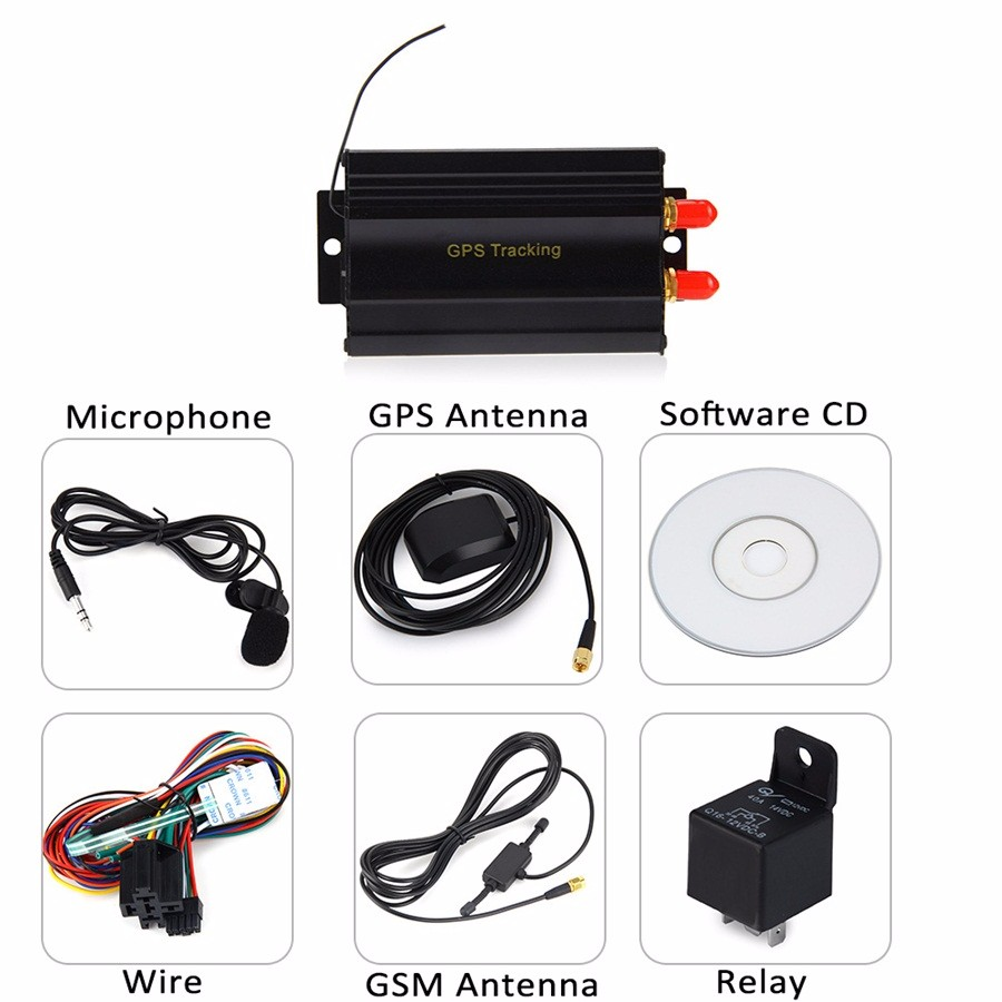 MINI GPS/SMS/GPRS TRACKER TK103A VEHICLE CAR REALTIME TRACKING DEVICE SYSTEM