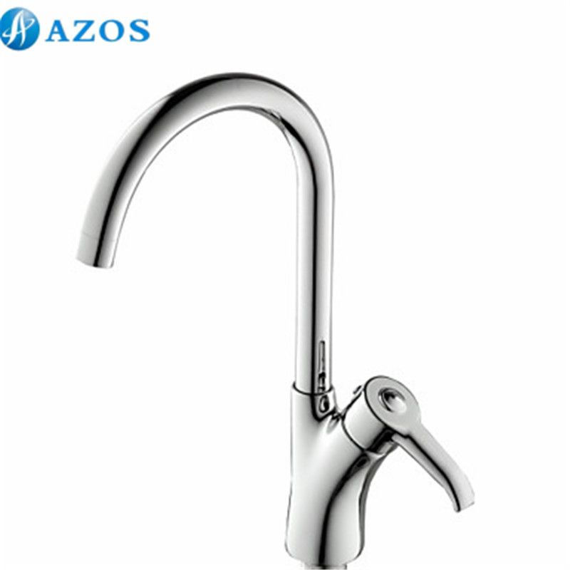 Kitchen Sink Faucets Swivel Hose Spray Single Handle Chrome Polished Brass Deck Mounted Hot Cold Mixers Sets CFLT617(China (Mainland))