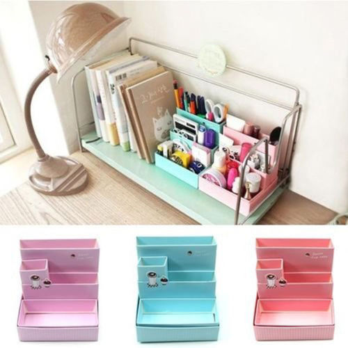 Random Color!!! 2015 Hot Sale DIY Paper Board Storage Box Desk Decor Stationery Makeup Cosmetic Organizer Top(China (Mainland))