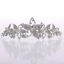 silbrig prinzessin großen kristall Glanz brauttiara hochzeit haar krone hg133(China (Mainland))
