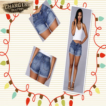 Buy Summer Women Fashion Wild Shorts High Waist Jeans Simple Curling Solid Jeans for $11.20 in AliExpress store