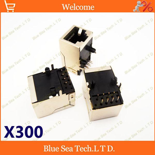300 шт RJ45 сетевой разъем печатной платы головкой кристалла розетка разъем LAN адаптер 8 штырей длинной типов без света