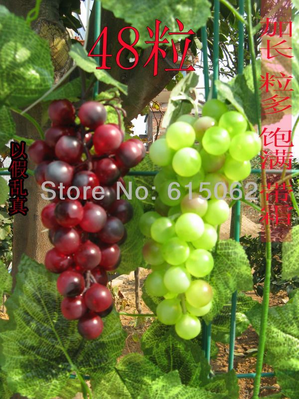 Artificial fruit hanging 48 grapes fake grape bunch home for Artificial grape vines decoration