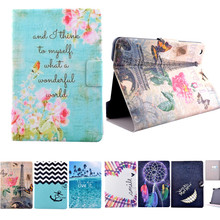 High Quality 2015 Flower Pattern Flip pu Leather Smart Stand Shell Skin Cover Case for Apple Ipad mini Mini 2 mini3 Tablet case(China (Mainland))