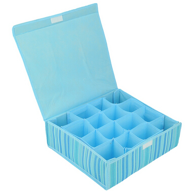 16 cells stripes DIY Self Assembly Rack Closet Organizer Storage Box Case Basket Clothes Document free shipping C038(China (Mainland))